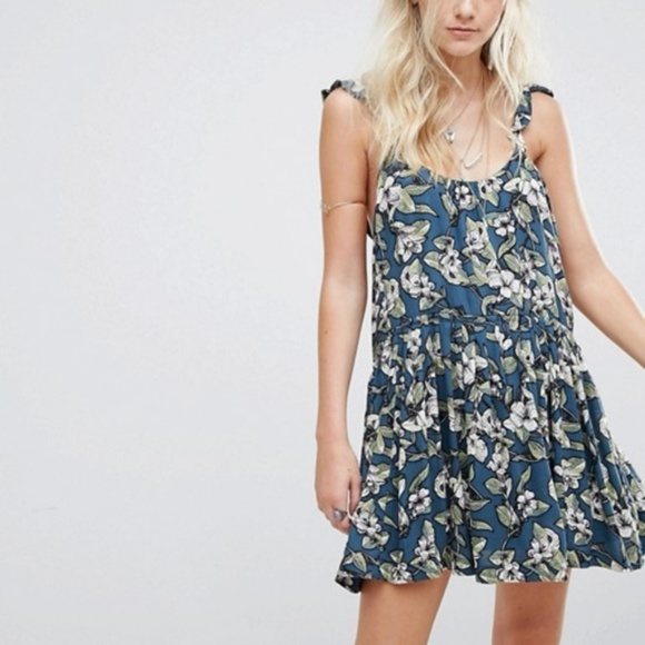 c074a4287f30 Free People Dresses & Skirts - Free People Floral Dear You Ruffle Strap  Minidress